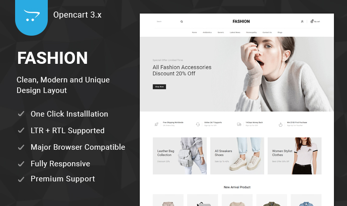 Sell OpenCart 3 Theme