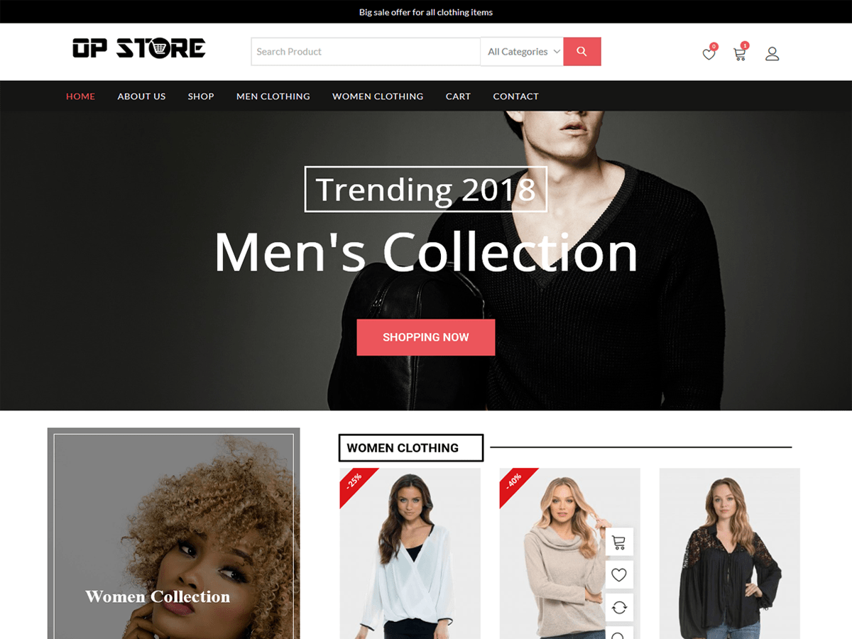 opstore free WooCommerce theme